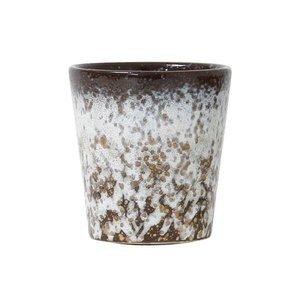 HKliving Becher 70er Keramik 'Schlamm' 2er Set