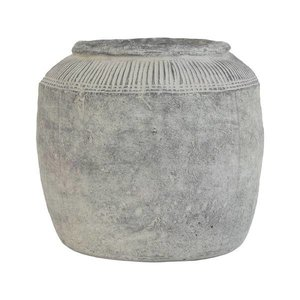 HKliving Flower pot cement L
