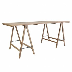 HKliving Teak trestle table teak.