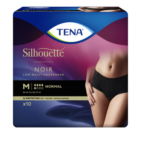 TENA Silhouette Normal Low Waist Black  (M/ L)