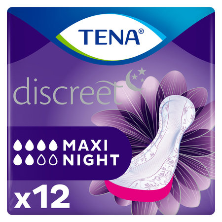 Tena Health TENA Discreet Maxi Night verbanden 12 stuks
