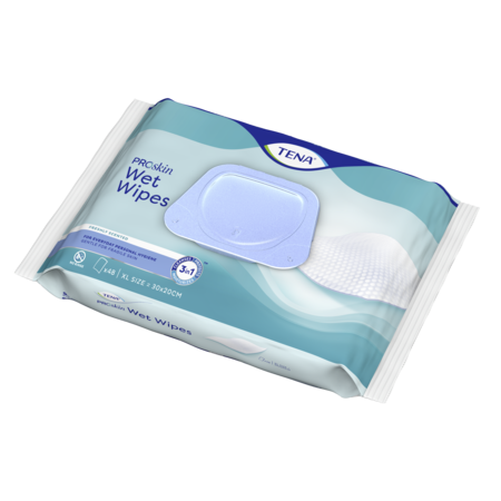 TENA Wet Wipes ProSkin  met dispenser (48 stuks)