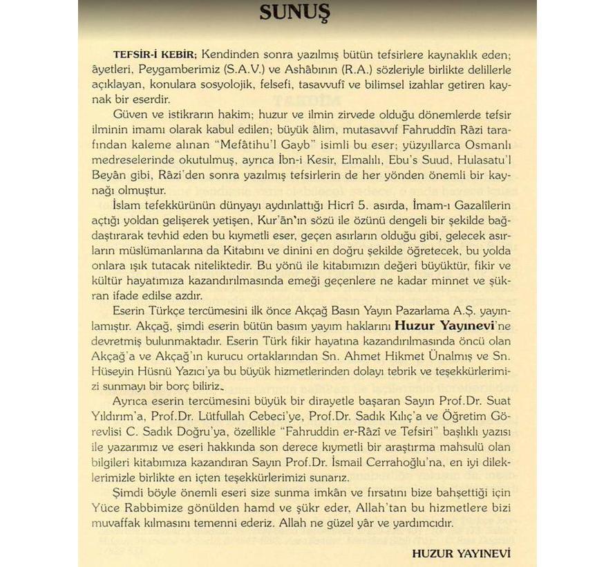 Tefsir-i Kebir I 23 Cilt I Bez Cilt/Şamua