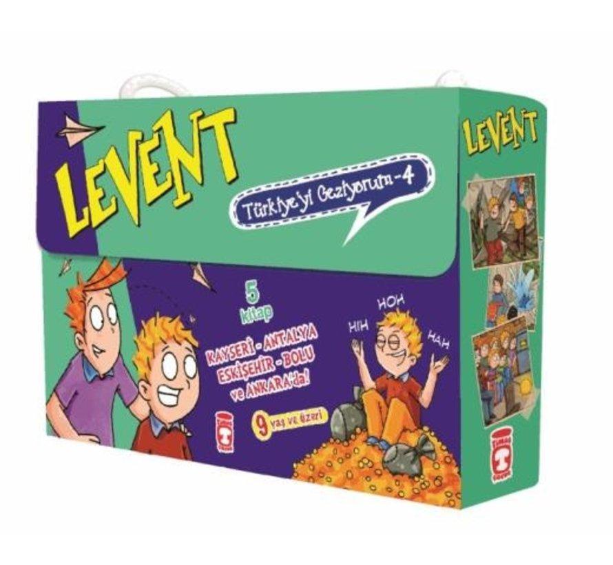 Levent Türkiye'yi Geziyorum 4 Set  I 5 Kitap