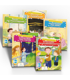 Elif und Emre lernen unsere Religion 5 Bücher Set