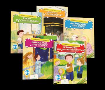 Erol Medien Verlag Elif und Emre lernen unsere Religion 5 Bücher Set