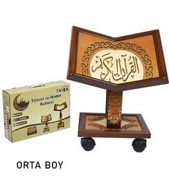 Höhenverstellbarer Holz Qur'an-Ständer Größe M
