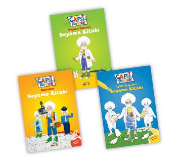 Semerkand Çocuk  Çatpat Profesör Boyama Seti 3 Kitap