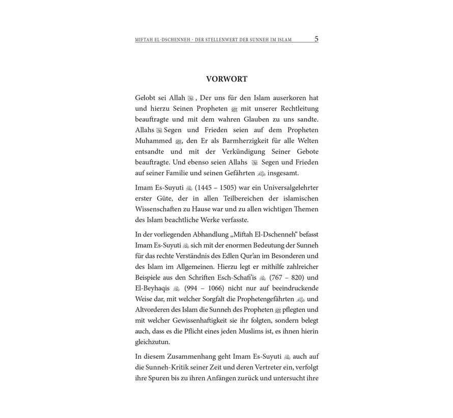 Miftah el-Dschenneh | Der Stellenwert Der Sunneh Im Islam