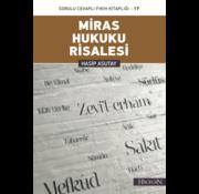 Hacegan Yayınları Miras Hukuku Risalesi I Hasip Asutay