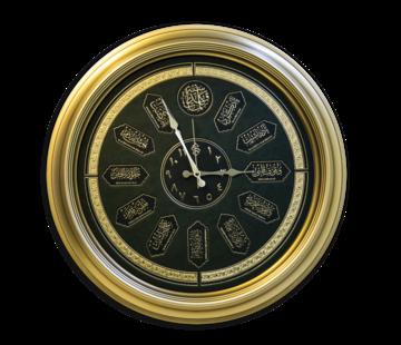 Semerkand Store On Bir Kandil Prestij Duvar Saati (2 Farklı Çerçeve Rengi)