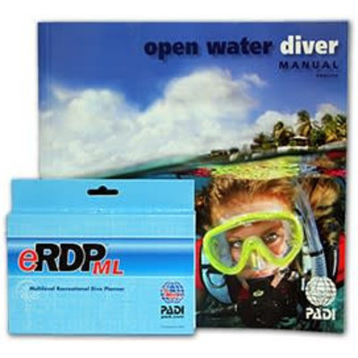 PADI Open Water boek met eRDPML