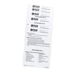 PADI Cue Cards Confined Water