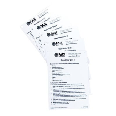 PADI Cue Cards Open Water