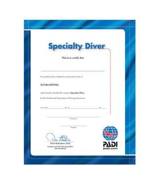 Padi PADI Certificaat Specialty Diver