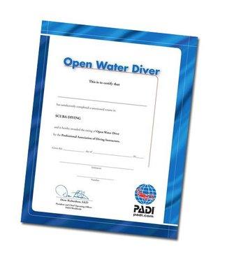 Padi PADI Certificaat Open Water Diver
