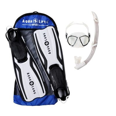 Aqualung Amika Travel Snorkelset Wit