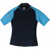 Aqualung Rash Guard Kort Junior Blauw
