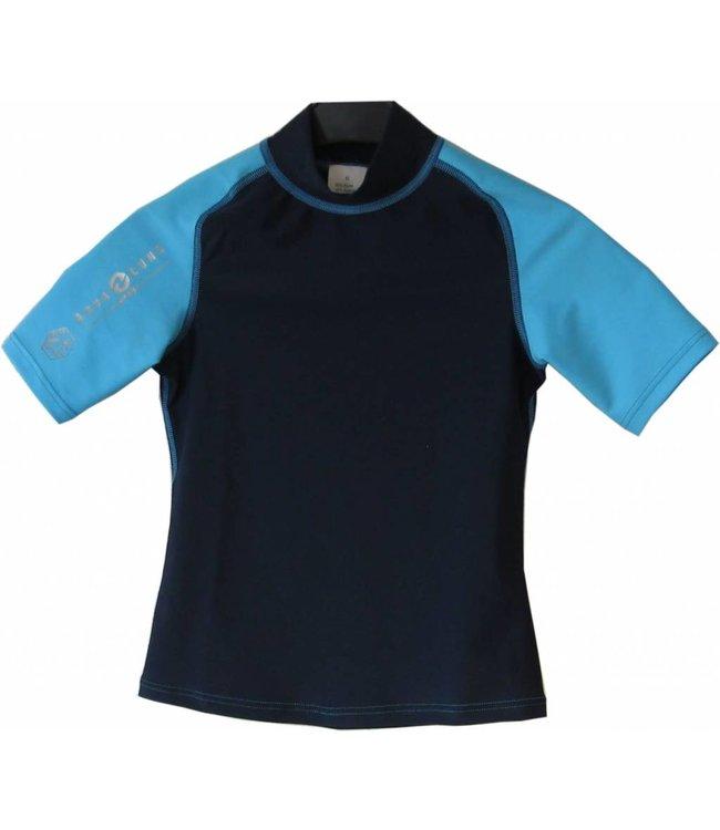 Aqualung Rash Guard Kort Junior Blauw
