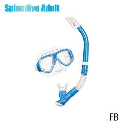 Tusa Splendive Snorkelset Fishtail Blue