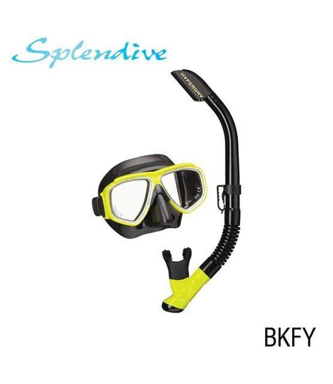 Tusa Splendive Snorkelset Black Yellow