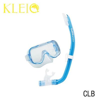 Tusa Mini-Kleio Junior Snorkelset Clear Blue