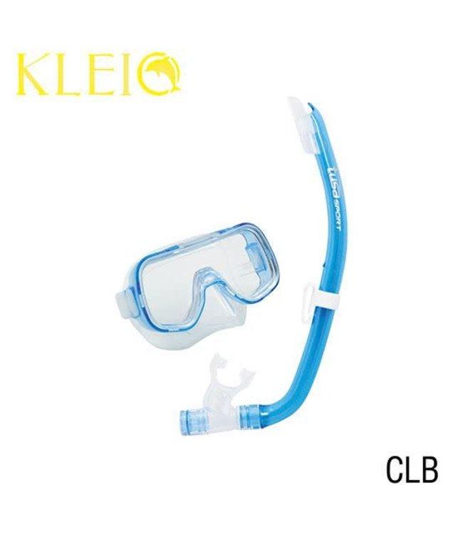 Tusa Mini-Kleio Junior Snorkelset Clear Blue