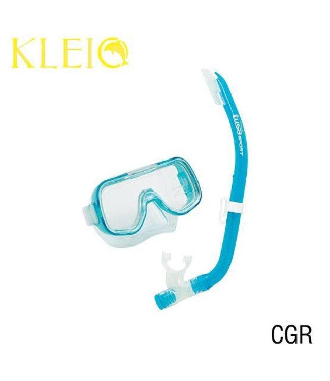 Tusa Mini-Kleio Junior Snorkelset Clear Green