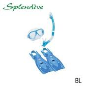 Tusa Splendive Travel Snorkelset Blauw