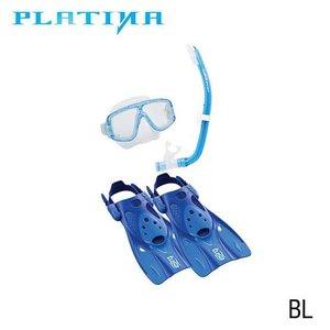 Tusa Platina Travel Snorkelset Blauw