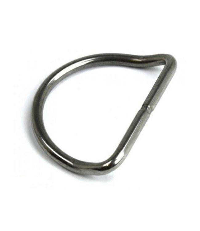D-Ring RVS 50mm gebogen