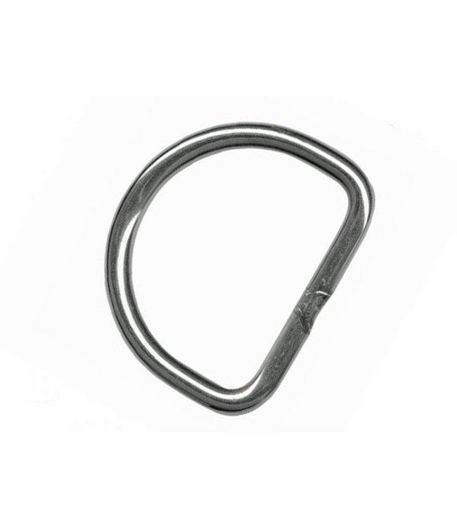 D-Ring RVS 50mm recht