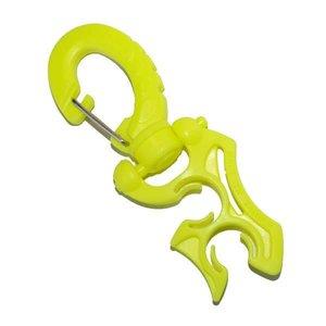 Slangclip musketon 2-delig geel