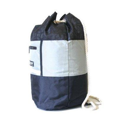 Procean Beach Bag Zwart-grijs Roosjes