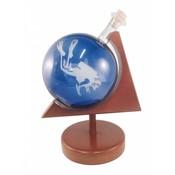 Glazen Globe in houder Duiker
