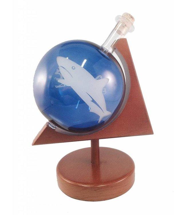 Glazen Globe in houder Haai