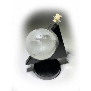 Glazen Globe in houder Wereldbol