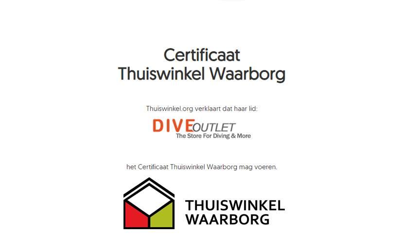 Diveoutlet aangesloten bij keurmerk Thuiswinkel Waarborg