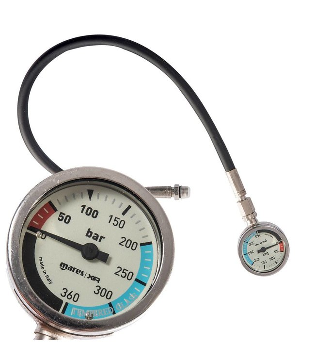 Mares XR Manometer met 56cm slang