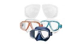 Zie scherp onder water met een duikbril op sterkte