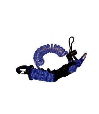 Q-Dive Spiraalkoord met clip en ring