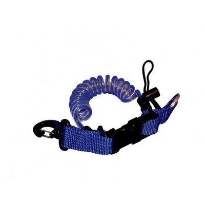 Spiraalkoord met clip en ring