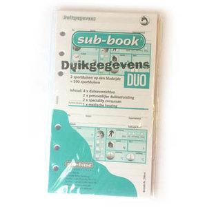 Sub-book logboek vulling
