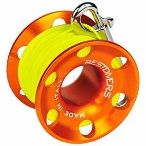Best Divers vingerreel aluminium 30 meter
