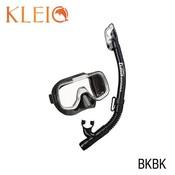 Tusa Mini-Kleio Dry junior snorkelset Black