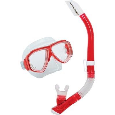 Tusa Splendive snorkelset Hibiscus Red