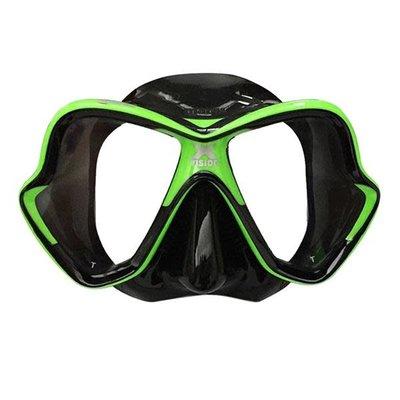 Mares X-Vision masker zwart siliconen