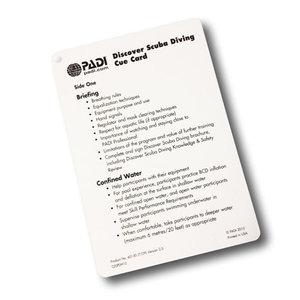 PADI Cue Card Discover Scuba Diving (DSD)