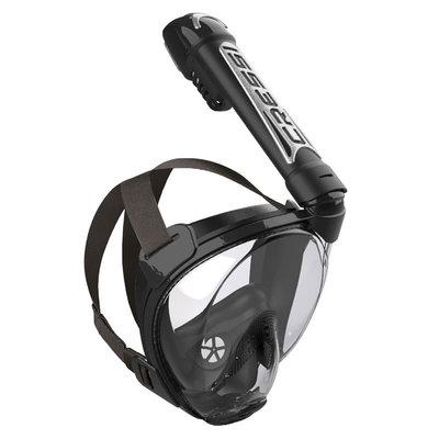 Cressi Duke Snorkelmasker Zwart-Zwart