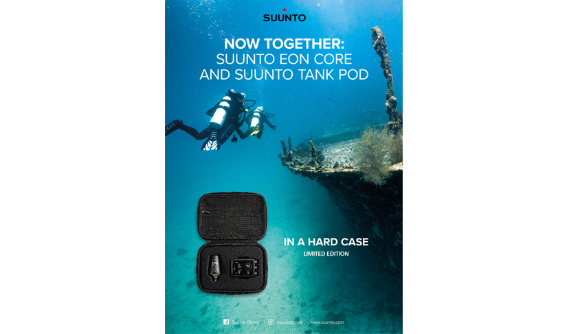 Limited edition Suunto Eon Core met Tank Pod in hardcase